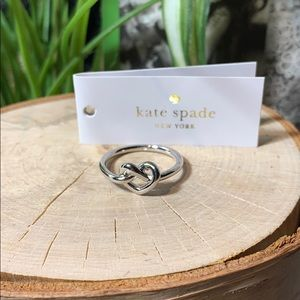 Kate Spade ring silver New! Size 8 love knot